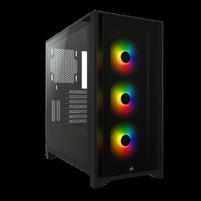 CORSAIR iCUE 4000X RGB Gaming PC Case Black