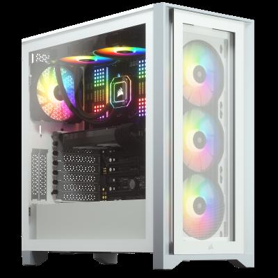 CORSAIR iCUE 4000X RGB Gaming PC Case White
