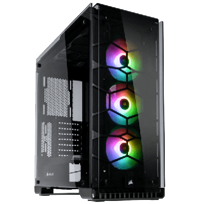 Corsair Crystal Series 570X RGB Tempered Glass Case - Black