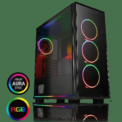 Game Max View ARGB Sync Gaming PC Case
