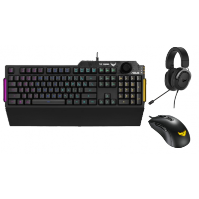 ASUS TUF GAMING K1 Keyboard, M3 Mouse & H3 Headset Bundle