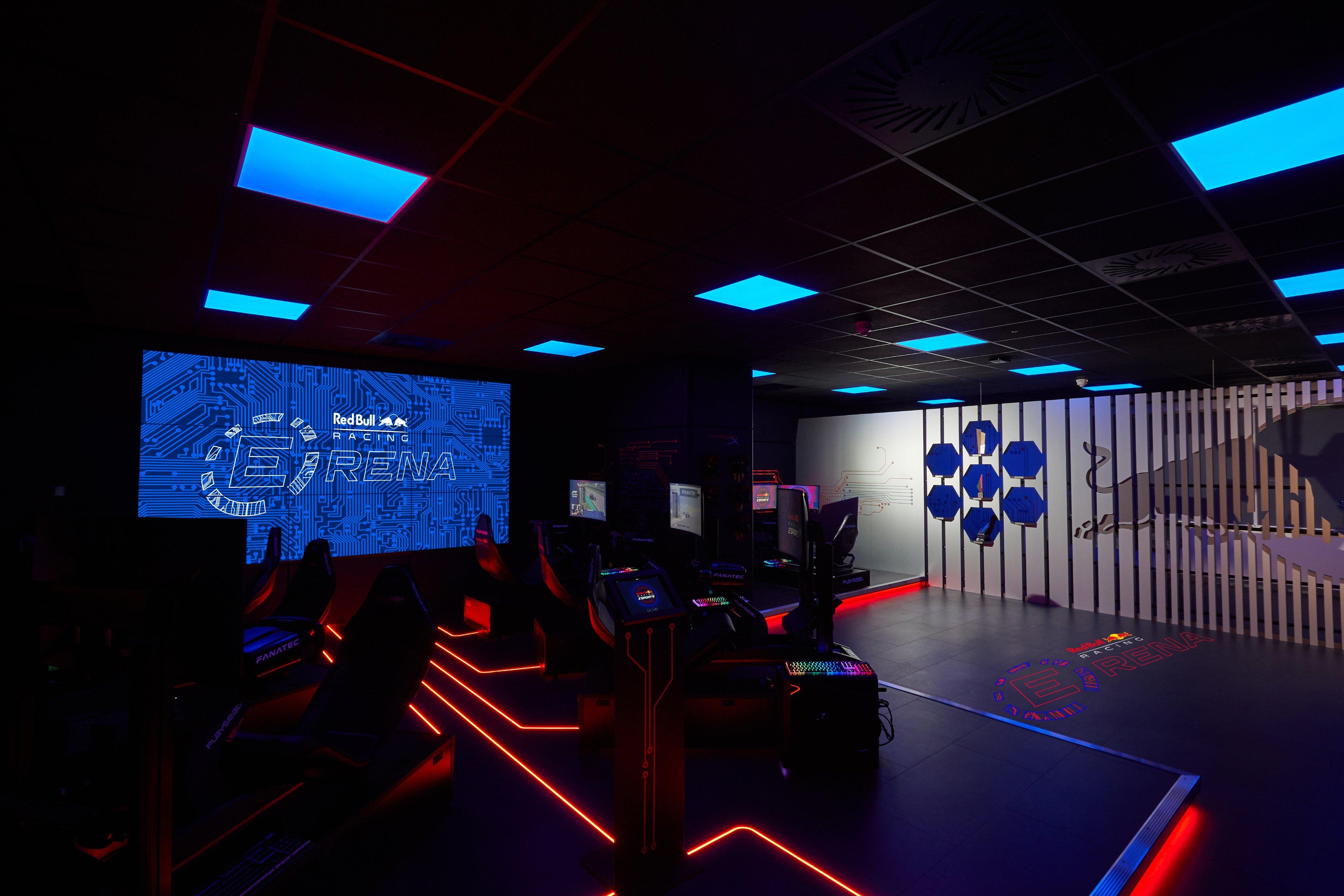 inside of the Red Bull Racing Erena