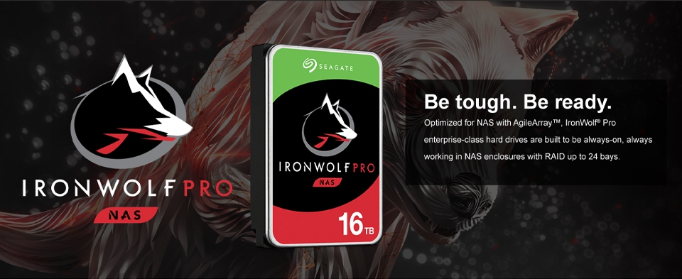 ironwolf seagate banner ile ilgili görsel sonucu