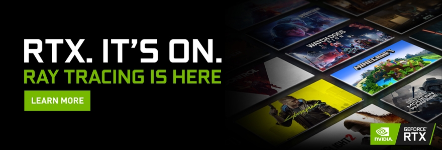 NVIDIA RTX It's On Banner