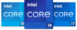 Intel Core I9, Intel Core i7, Intel Core i5