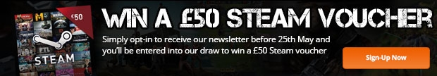 Opt-in for your chance to win a £50 Steam voucher!