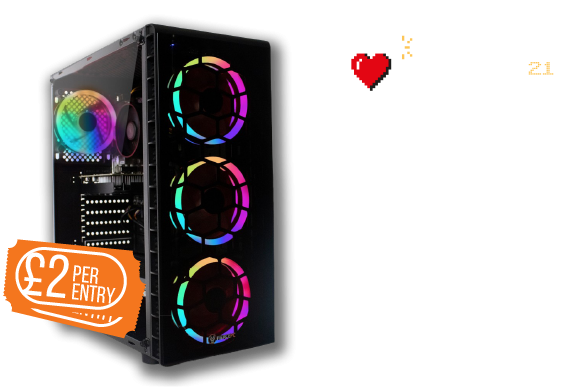 GameBlast 2021 Charity Raffle. Win an Express Crusader Raider PC